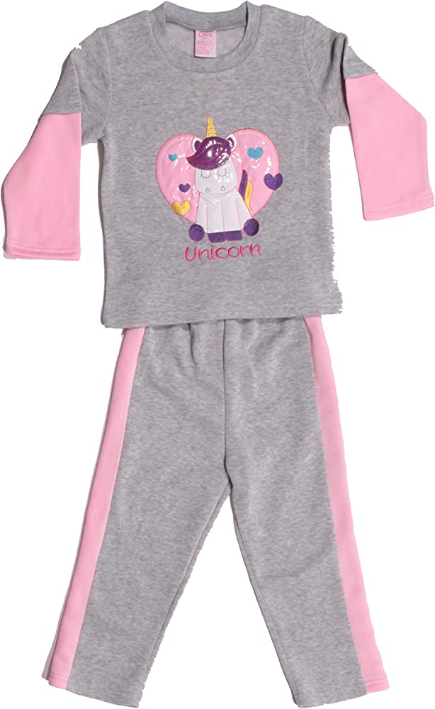 Pack of 2 Just Love Girls Two Piece Fleece Set