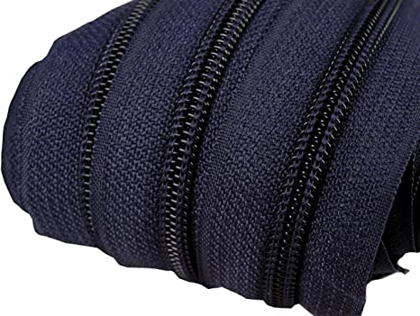Mit Kettenkopf und Endst/ück Spiralf/örmig 5 Streifen 4 Farben f/ür R/öcke Heimtextilien 2 m Zipper f/ür Rei/ßverschluss 5 mm Annvchi Endlosrei/ßverschluss mit Zipper Trennbar Rucksack