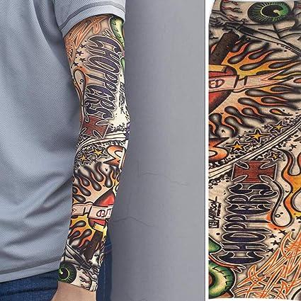 ddellk Sola Manga del Tatuaje, Manguitos Falsos Unisex del Brazo del Tatuaje Manga de la