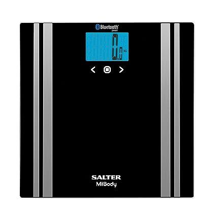 Salter - Básculas de baño con analizador digital Bluetooth, Medición de peso, Grasa corporal