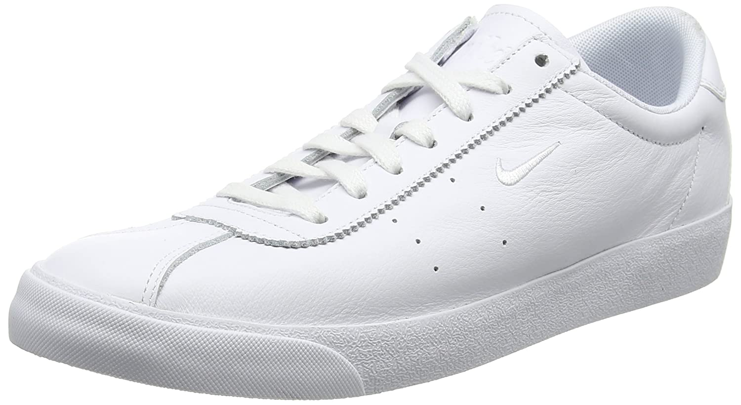 Nike Herren Match Classic Leather Sneaker  42 EU|Wei? (White/White)