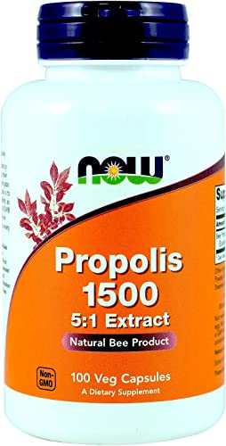 Now Foods Propolis 1500 mg 100 capsules Pack of 3