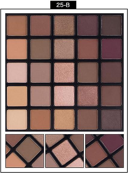 7Lucky 25 colores perlas mate combinación sombra de ojos ...