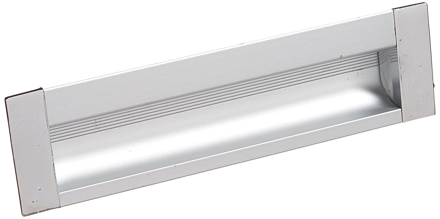 Silver Tone Uxcell 5.5-Inch Long Rectangle Flush Pull Handle for Sliding Door