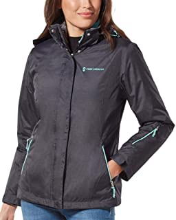 FREE COUNTRY WOMEN/'S PACKABLE WATERPROOF RAIN JACKET ANTIQUE TEAL VARIETY SIZE