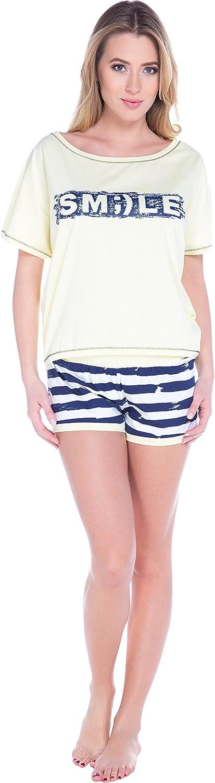 Italian Fashion IF Pijama Camiseta y Pantalones Mujer S93L2 0227