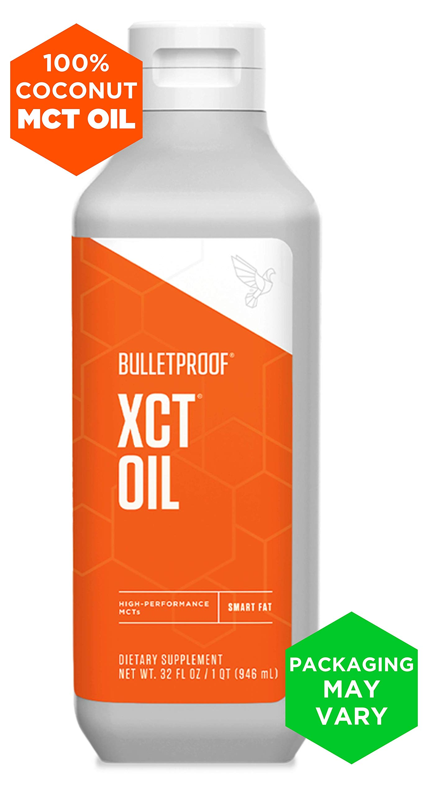 Bulletproof XCT Oil, Perfect for Keto and Paleo Diet, 100% Non-GMO Premium C8 C10 MCT Oil, Ketogenic Friendly, Responsibly Sourced from Coconuts Only, Made in The USA (32 oz)