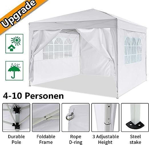 Oppikle Plegable Carpa con Paredes 3x3/3x6m - Impermeable, con Protección Solar, Ideal para Fiestas en el Jardín ...