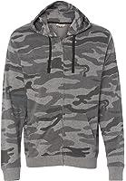 Burnside Mens Camo Full-Zip Hooded SweatShirt B8615