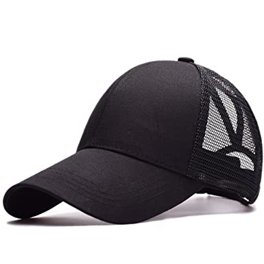8e2c26fecfc Amkun Ponytail Baseball Cap Hat Ponycaps Messy Ponytail Adjustable Outdoor Mesh  Cap Trucker Dad Hat for