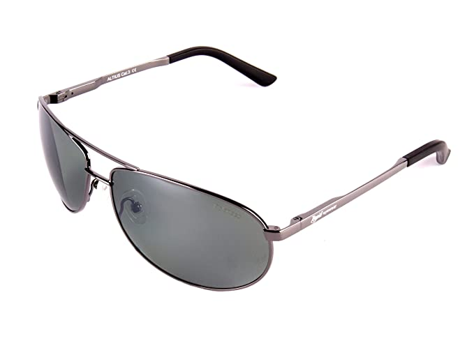 ac9ce7cd99eb Rapid Eyewear Altius UV400 Silver POLARISED AVIATOR SUNGLASSES Green Mirror  Lens