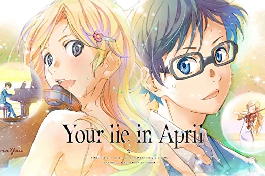 Amazon.com: Regina Sharp Your Lie in April Poster Arima Kousei and Miyazono  Kaori Poster - Japan Anime Metal Poster 12 x 8 inch: Posters & Prints