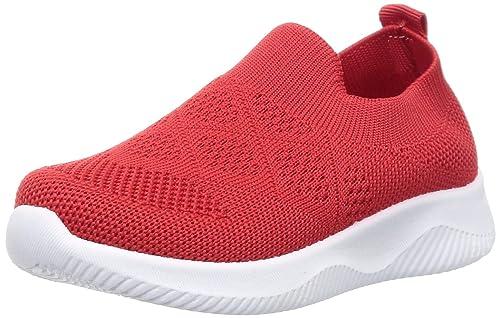Buy Walktrendy Unisex Red Sneakers-8 UK