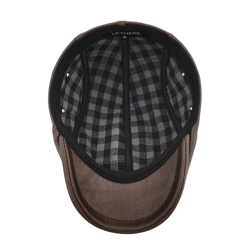 Lethmik cappello da uomo con visiera e cupola piatta 0627dc23cf81