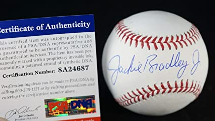 65fda9b818fc9 Image Unavailable. Image not available for. Color  Jackie Bradley Jr. Boston  Red Sox Autographed Signed Memorabilia ...