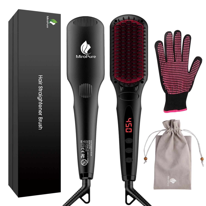 春早割 MiroPure with 2 in 1 Ionic Hair Straightener (並行輸入品) One Brush ヘアストレートヘアブラシ with Heat Resistant Glove and Temperature Lock Function (並行輸入品) One Size One Color B07CSSGS8K, あかり電材:104d4cf0 --- mvd.ee