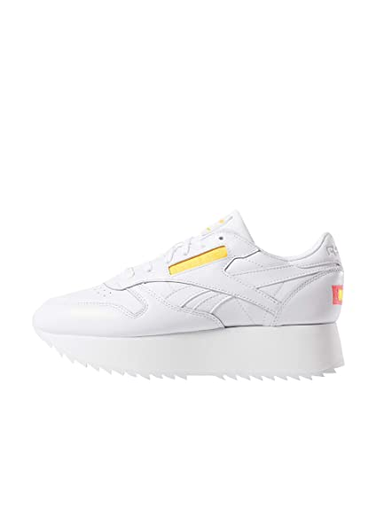 9349f278e4b89 Reebok Women s Classic Leather Double Low-Top Sneakers  Amazon.co.uk ...