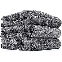The Rag Company - The Gauntlet Microfiber Wheel Towel - 12in x 12in - Grey (3-Pack)
