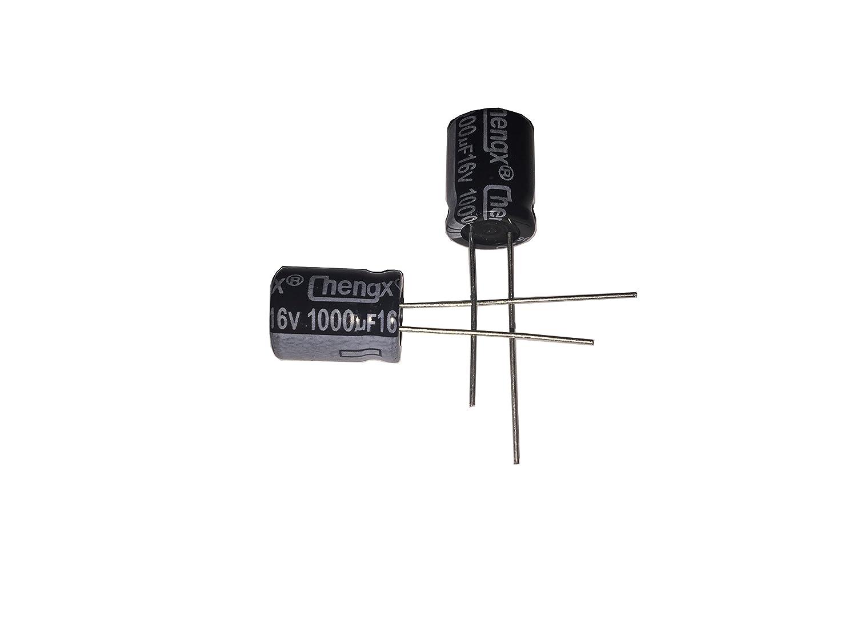 LATTECH 1000uF 16V 10X13 //-20/% 40-+105℃ 20 PCS Aluminum Electrolytic Capacitors