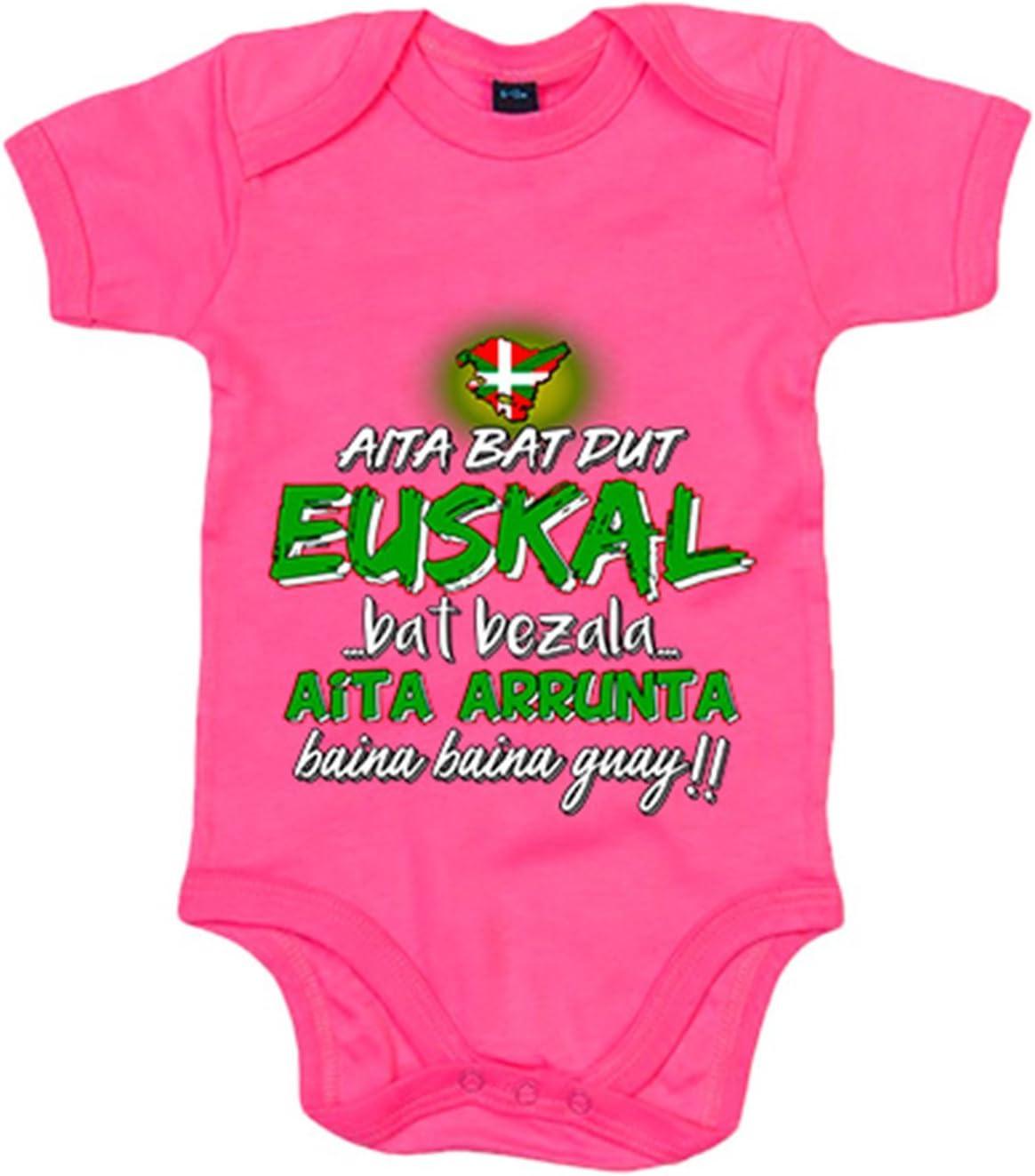 Body bébé aita Bat dut Euskal Bat bezala aita arrunta Baina Baina Guay 6-12 meses rose