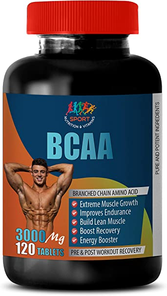Amazon Com Bodybuilding Supplements Pre Workout Bcaa 3000mg Pre And Post Workout Recovery Bcaa With Fat Burner 1 Bottle 120 Tablets Health Personal Care