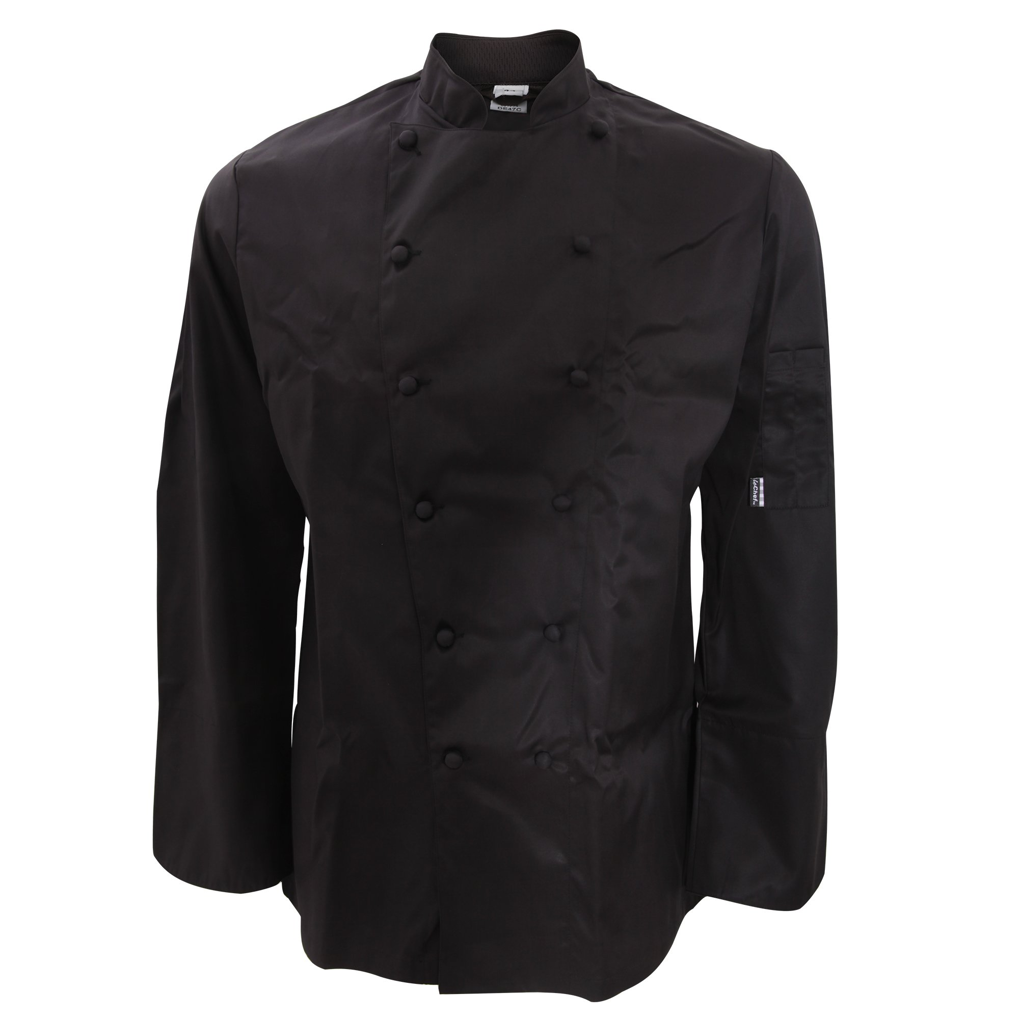 Le Chef Mens Classic Fit Long Sleeve Jacket (52in) (Black)