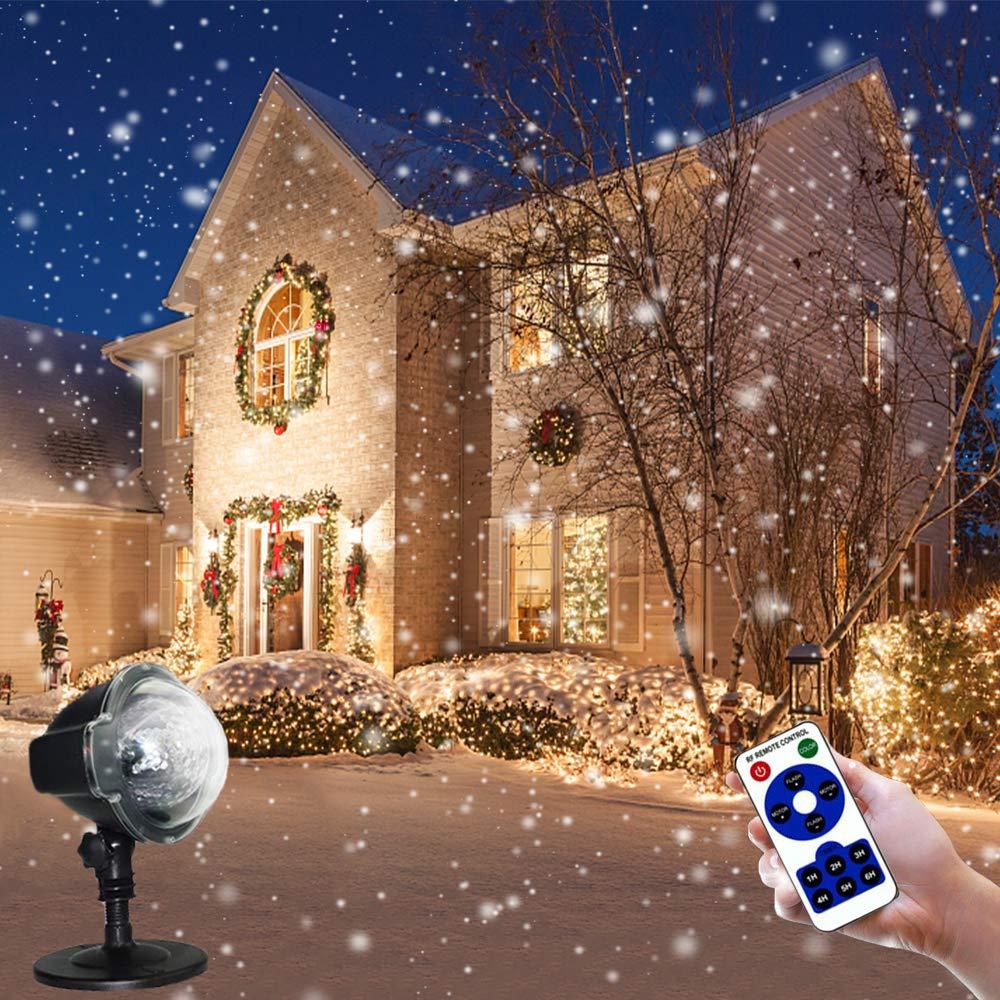 Weihnachtsbeleuchtung Aussen Schneefall.Led Projektionslampe Weihnachten Schneefall Licht