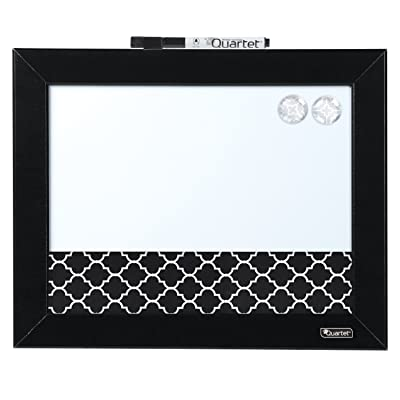 """Quartet Magnetic Combination Board, 11"""" x 14"""", Whiteboard, Home Organization, Black Frame (50727) : Office Products"""