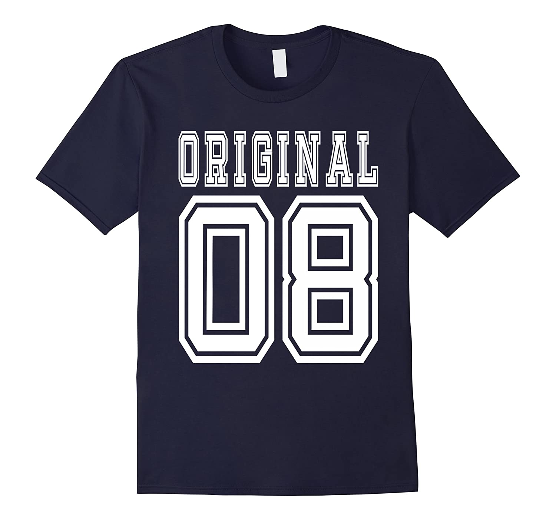 2008 T-shirt 9th Birthday Gift Age 9 Year Old Boy Girl B-day-PL