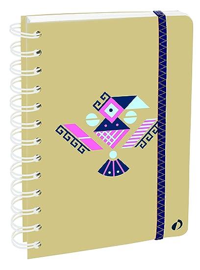 Agenda Escolar con espirales 1 Día/Página 2019-2020 Ethnik, A6/10x15cm, diseño Maya