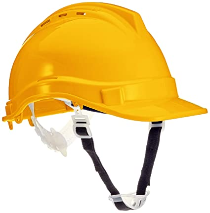 Silverline 306429 - Casco de seguridad (Amarillo)