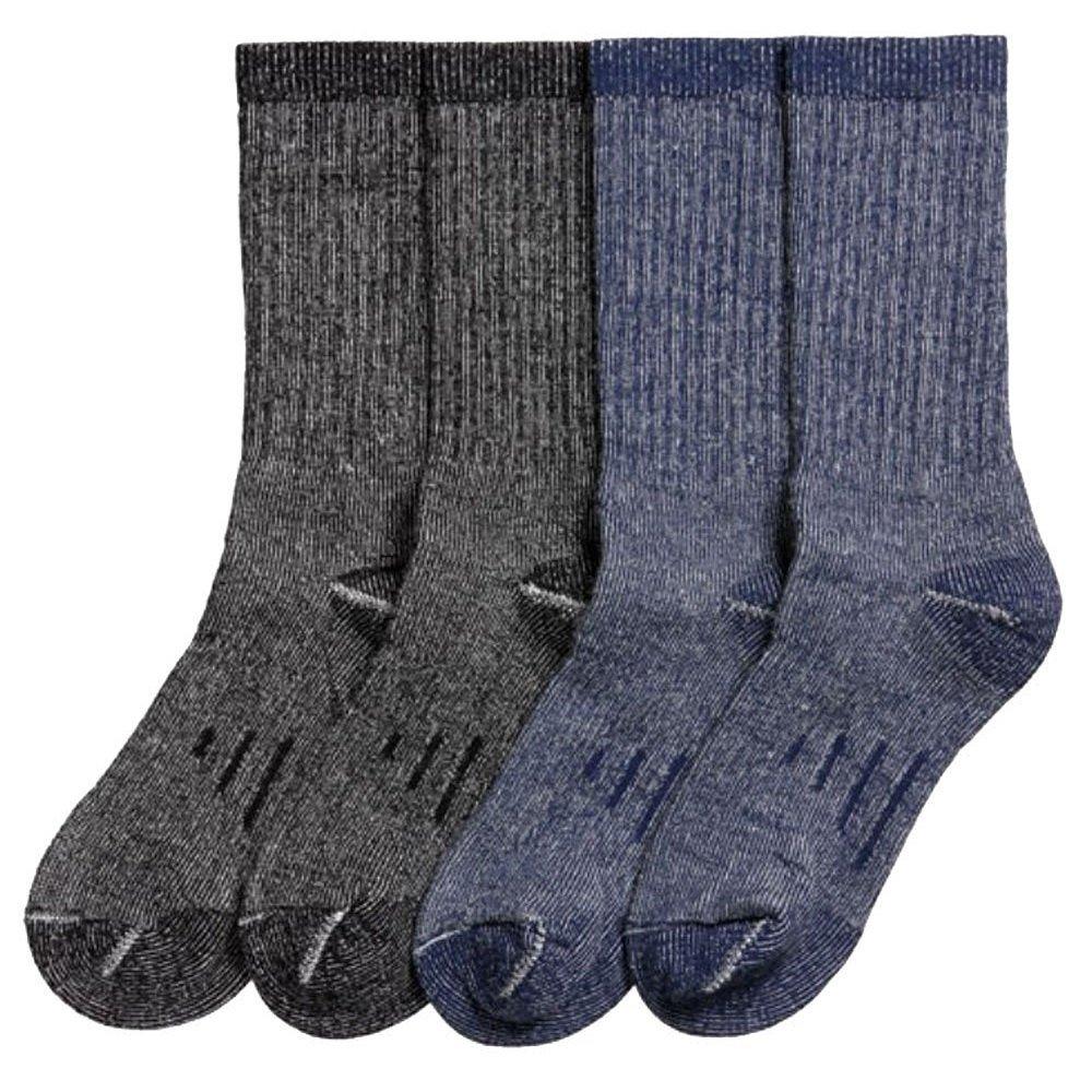 Kirkland Signature Mens Outdoor Trail Socks Merino Wool 4 Pairs