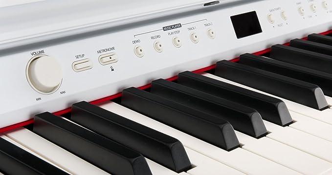 Classic Cantabile DP-50 WM piano electrico blanco mate: Amazon.es: Instrumentos musicales