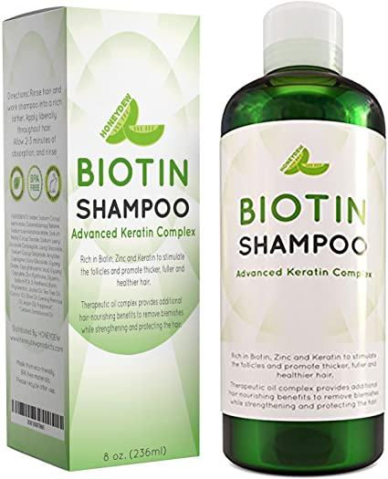 Amazon Com Natural Hair Loss Shampoo For Men And Women With Biotin For Hair Growth Dht Blocker For Thicker Hair Volume Sulfate Free Volumizing Shampoo Color Treated Hair Care For