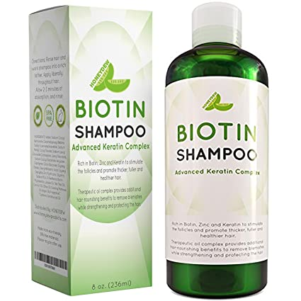 Natural Hair Loss Shampoo for Men and Women with Biotin for Hair Growth - DHT Blocker for Thicker Hair Volume - Sulfate Free Volumizing Shampoo - Color Treated Hair Care for Thinning Hair - 8 oz best men's shampoo for thinning hair