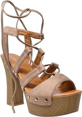 platform sandals that tie up