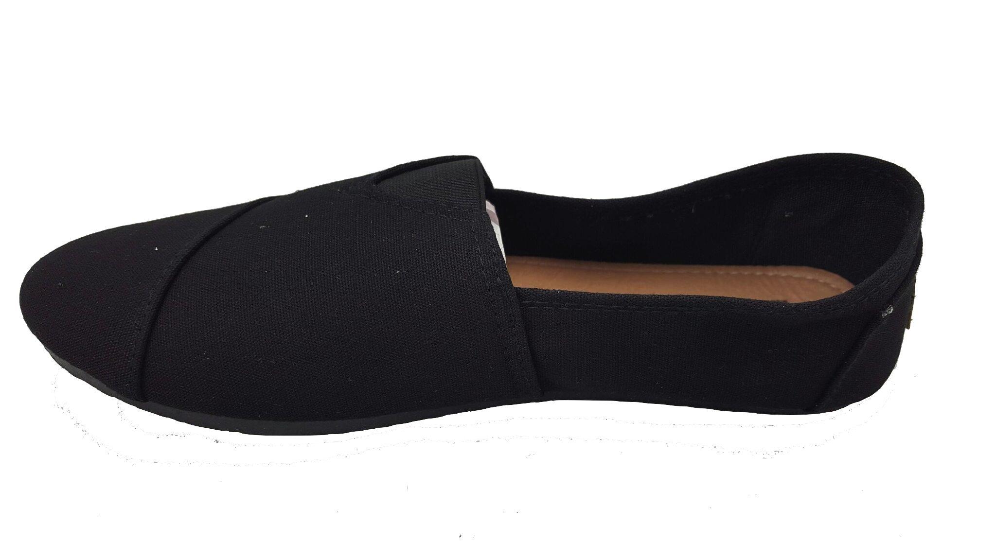 Anig Womens Canvas Slip on Shoes Flats 308l B/B 6