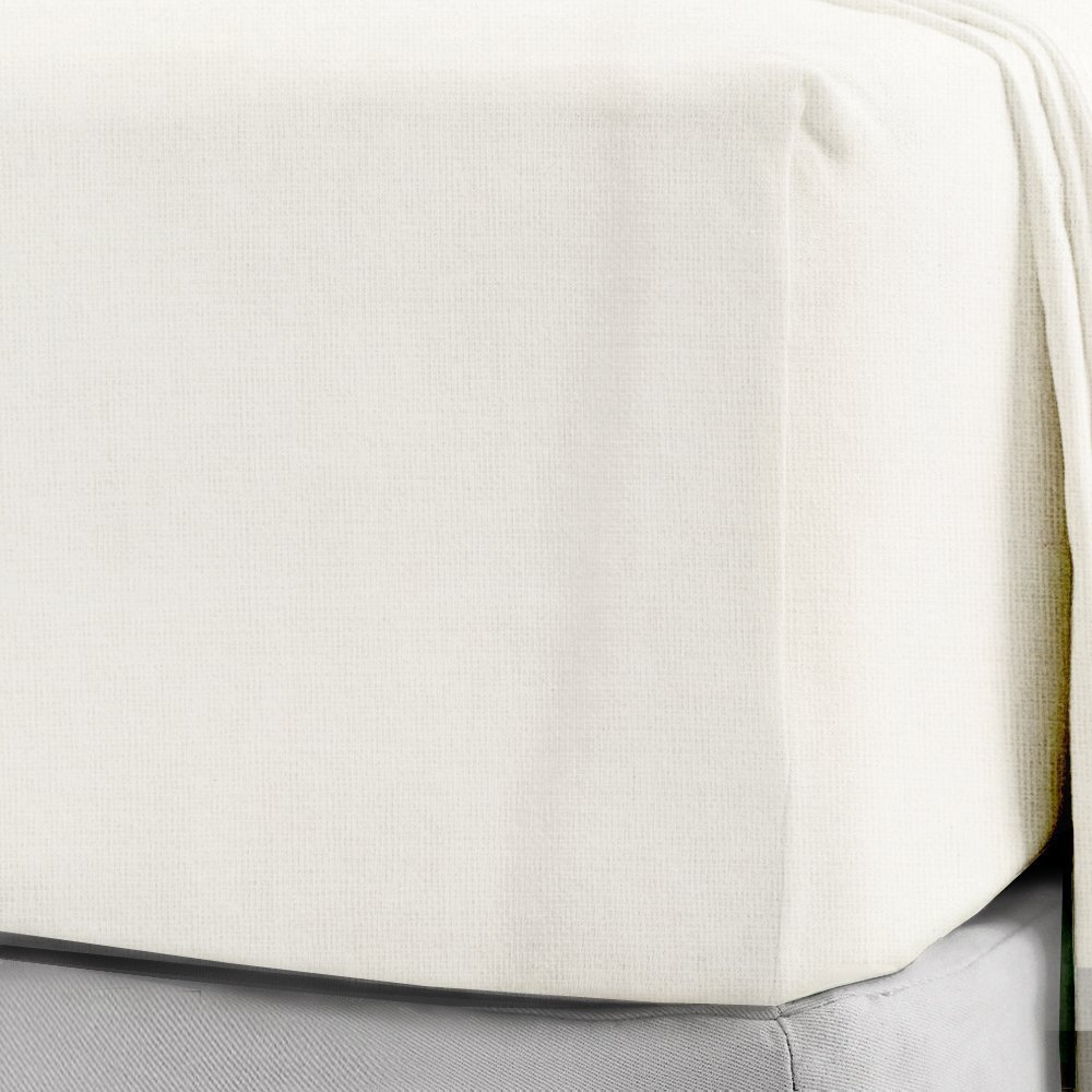 100% Brushed Cotton Flannelette Fitted Sheets 30CM/12