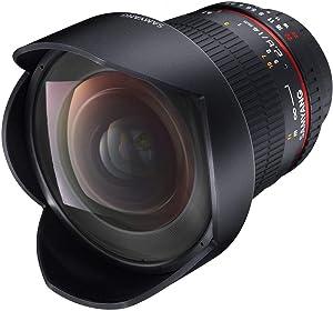 Samyang F1110601101 AE - Objectivo para Canon, (14 mm IF ED UMC, Ultra Wide Angle Lens), Negro