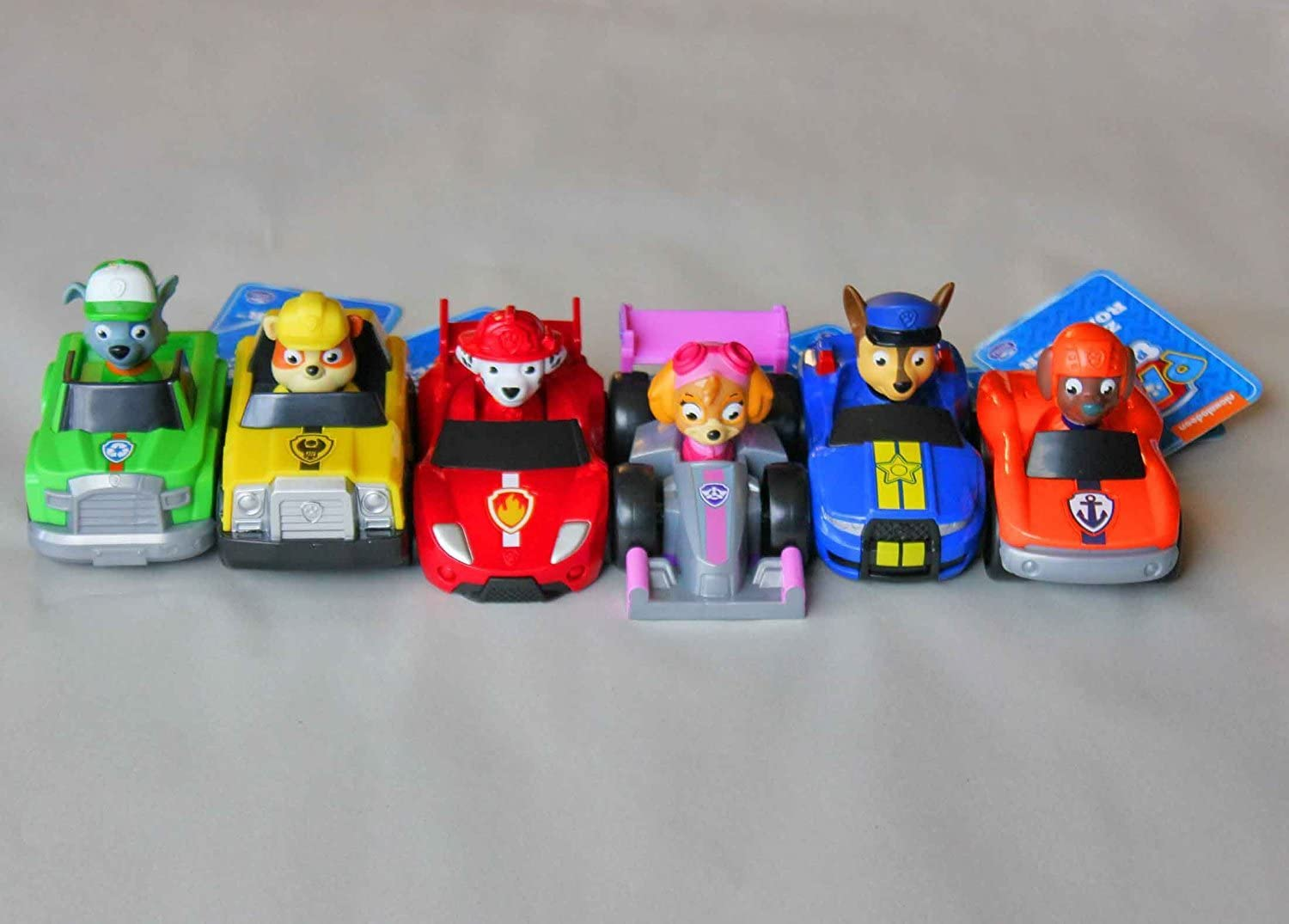 Zuma Rubble Chase Skye Rocky and Marshall Paw Patrol Paw Racers 6 Pack