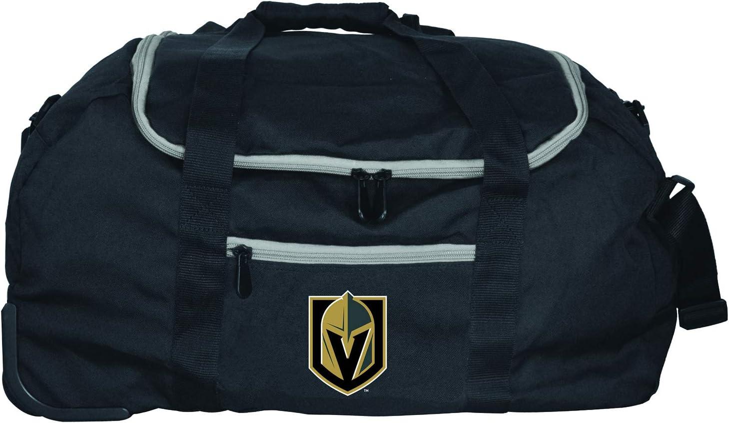 Denco NHL Vegas Golden Knights Collapsible Duffel 22 Black