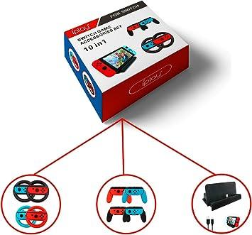 iPlay 10 en 1 Bundle Kits estación de Carga, Volante, Controlador ...