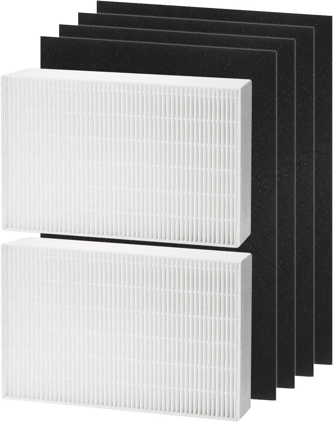 isinlive 2 True HEPA Filter Replacement Compatible with Honeywell HPA200 Series Air Purifier, Plus 4 Precut Activated Carbon Pre Filters, Filter R, HRF-R2, HPA200, HPA201, HA202, HPA204, HPA250