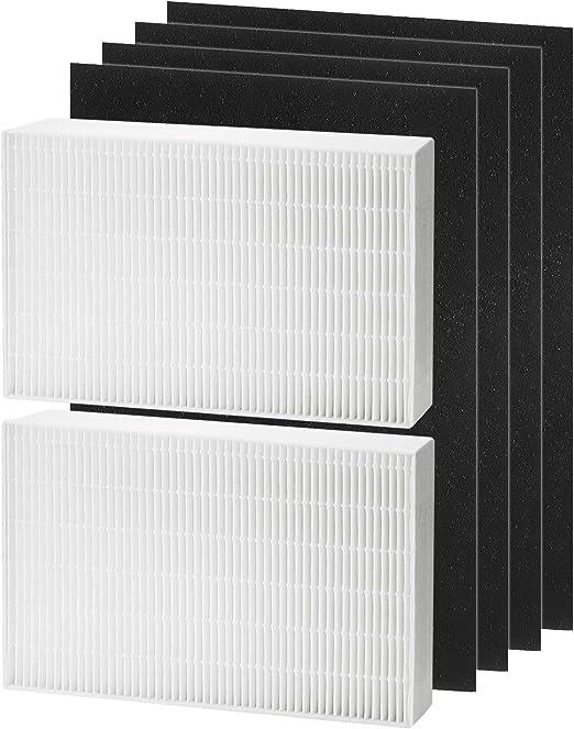 Filtro HEPA de repuesto compatible con purificador de aire Honeywell HPA200 Series, más 4 filtros de carbón activado precortados, filtro R, HRF-R2, HPA200, HPA201, HA202, HPA204, HPA250: Amazon.es: Hogar
