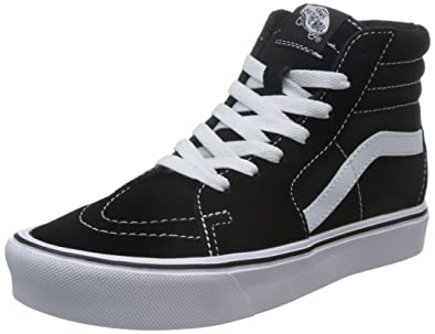 d730ffbcc3 Vans Sk8-Hi Lite Sneakers (Suede Canvas) Black Whitee Mens 5