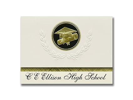 Signature Announcements C E Ellison High School Killeen TX Graduation Presidential Style