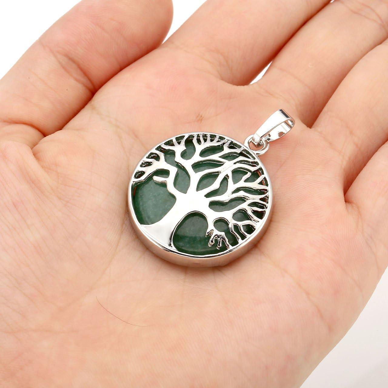 gemme pendentif arbre de vie pour femme bracelet en cristal collier Jovivi Parure de bijoux Reiki avec breloque