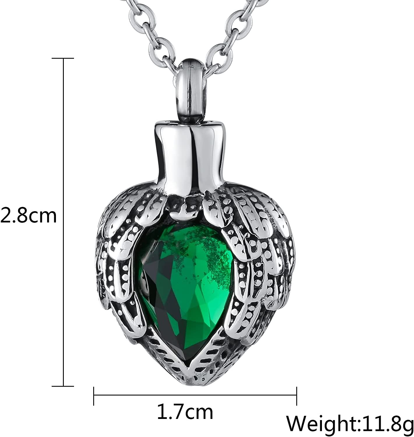Epinki Stainless Steel Cross Heart Pendant Urn Necklace for Ashes Cremation Keepsake Necklace