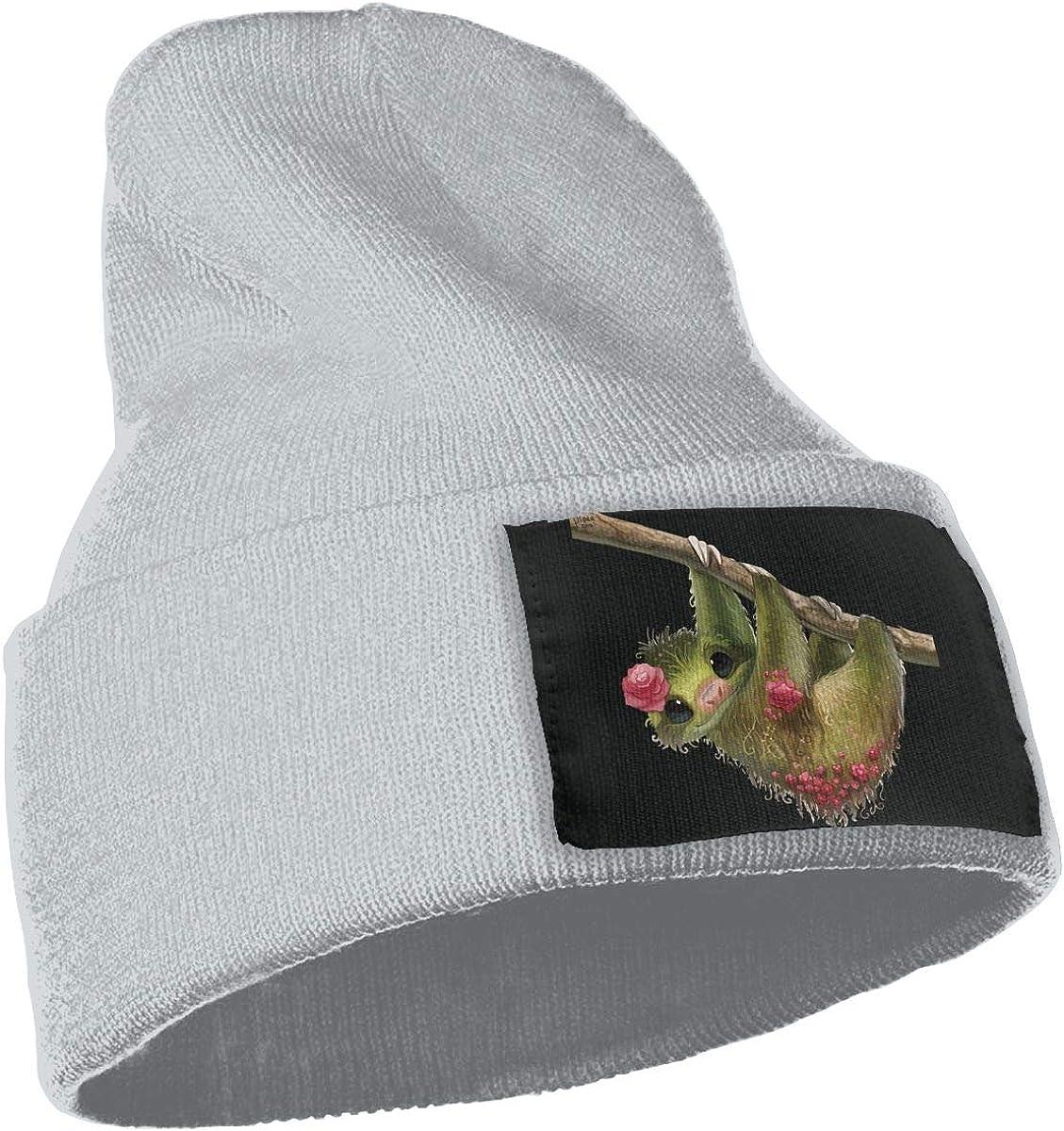 SLADDD1 Elegant Sloth Warm Winter Hat Knit Beanie Skull Cap Cuff Beanie Hat Winter Hats for Men /& Women