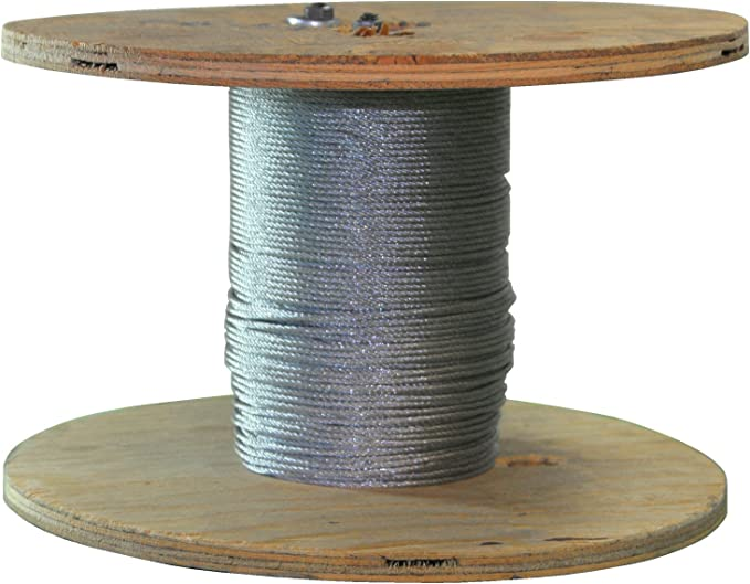 S332200 250 Ft of Stainless Steel Wire Rope 3//32 inch